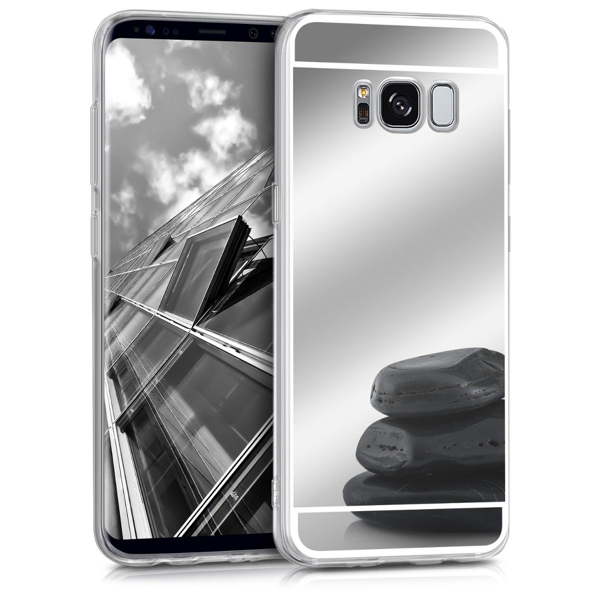 KW Θήκη Σιλικόνης (TPU) με Καθρέφτη Samsung Galaxy S8 - Silver Reflective (40982.42)