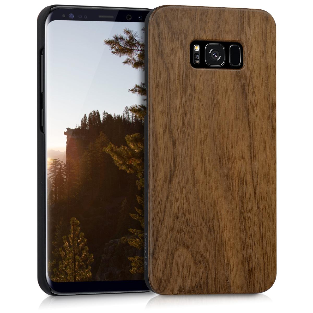 KW Σκληρή Ξύλινη θήκη Samsung Galaxy S8 Plus Wood Case  (41004.18)