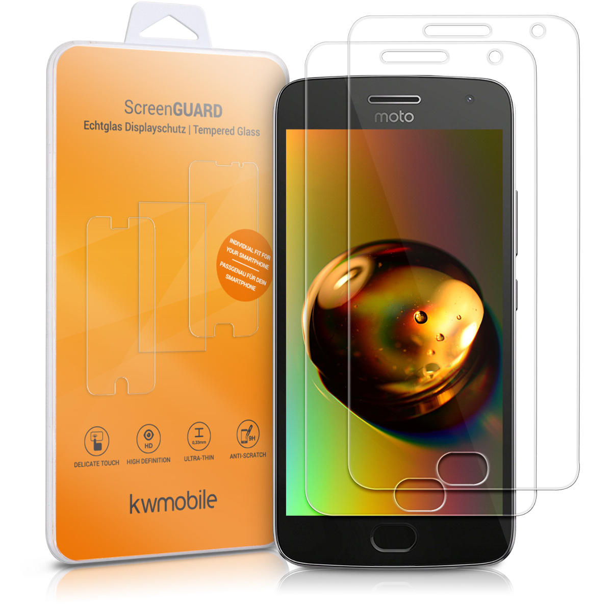KW Tempered Glass Αντιχαρακτικό Γυαλί Οθόνης Motorola Moto G5 Plus - 2 Pack (41087.1)