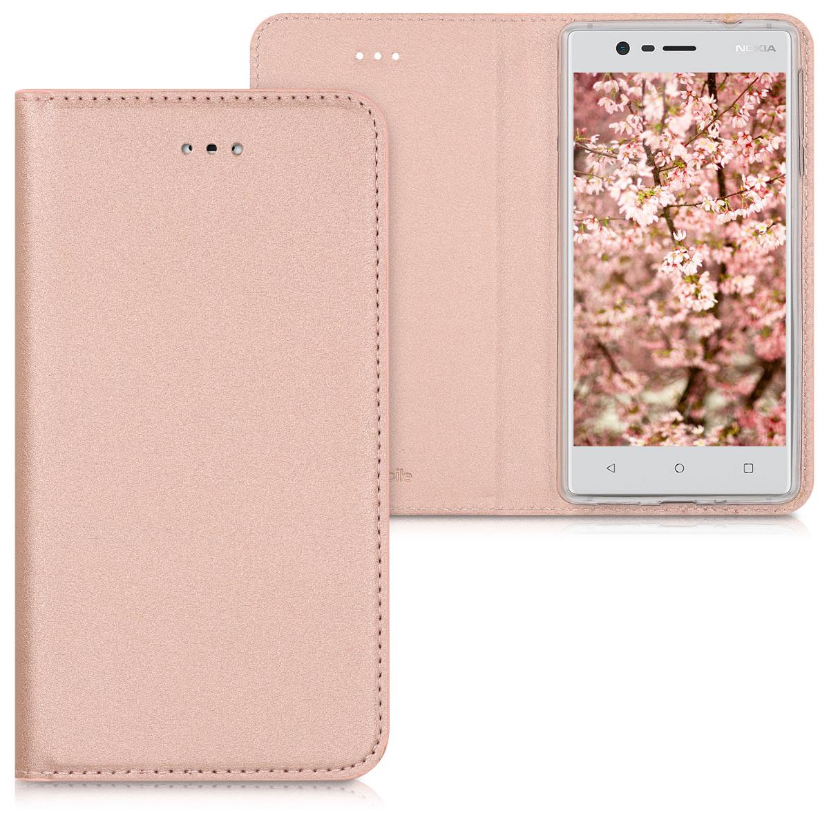 KW Θήκη Flip Nokia 3 - Rose Gold (41105.81)