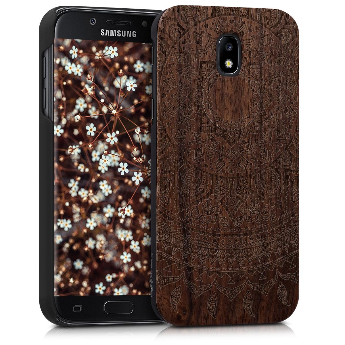 KW Ξύλινη Θήκη Samsung Galaxy J5 (2017) DUOS - Dark Brown (41157.01)
