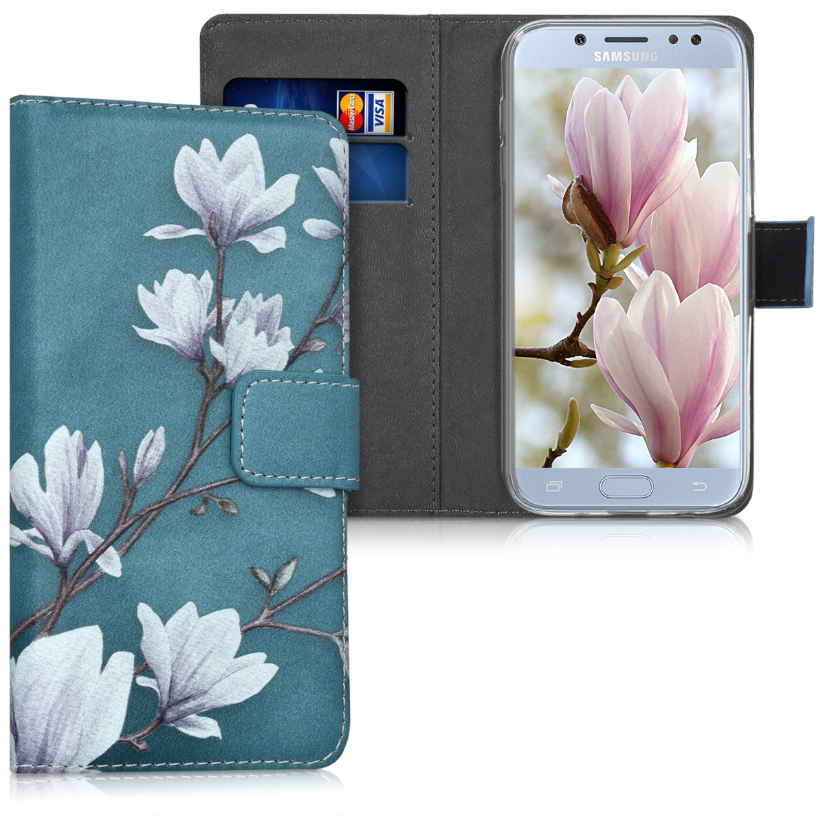 KW Θήκη Πορτοφόλι Samsung Galaxy J5 (2017) DUOS - Taupe / White / Blue Grey (41163.05)