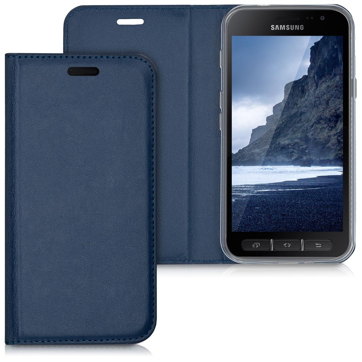 KW Θήκη Flip Samsung Galaxy Xcover 4 - Dark Blue (41170.17)