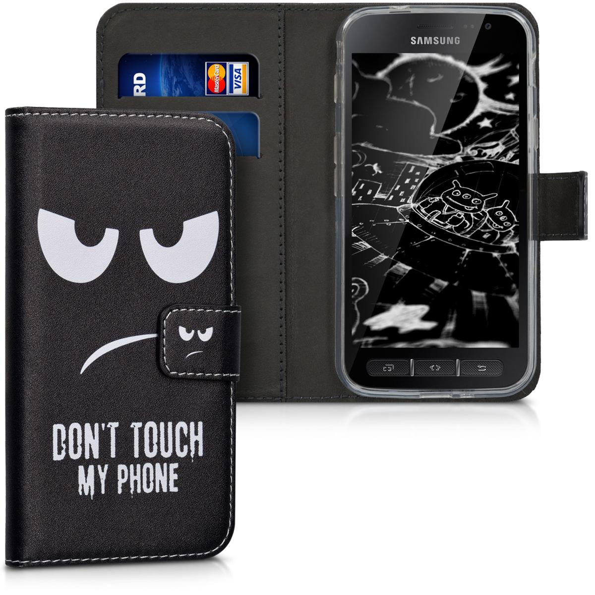 KW Θήκη Πορτοφόλι Samsung Galaxy Xcover 4 - White / Black (41254.01)