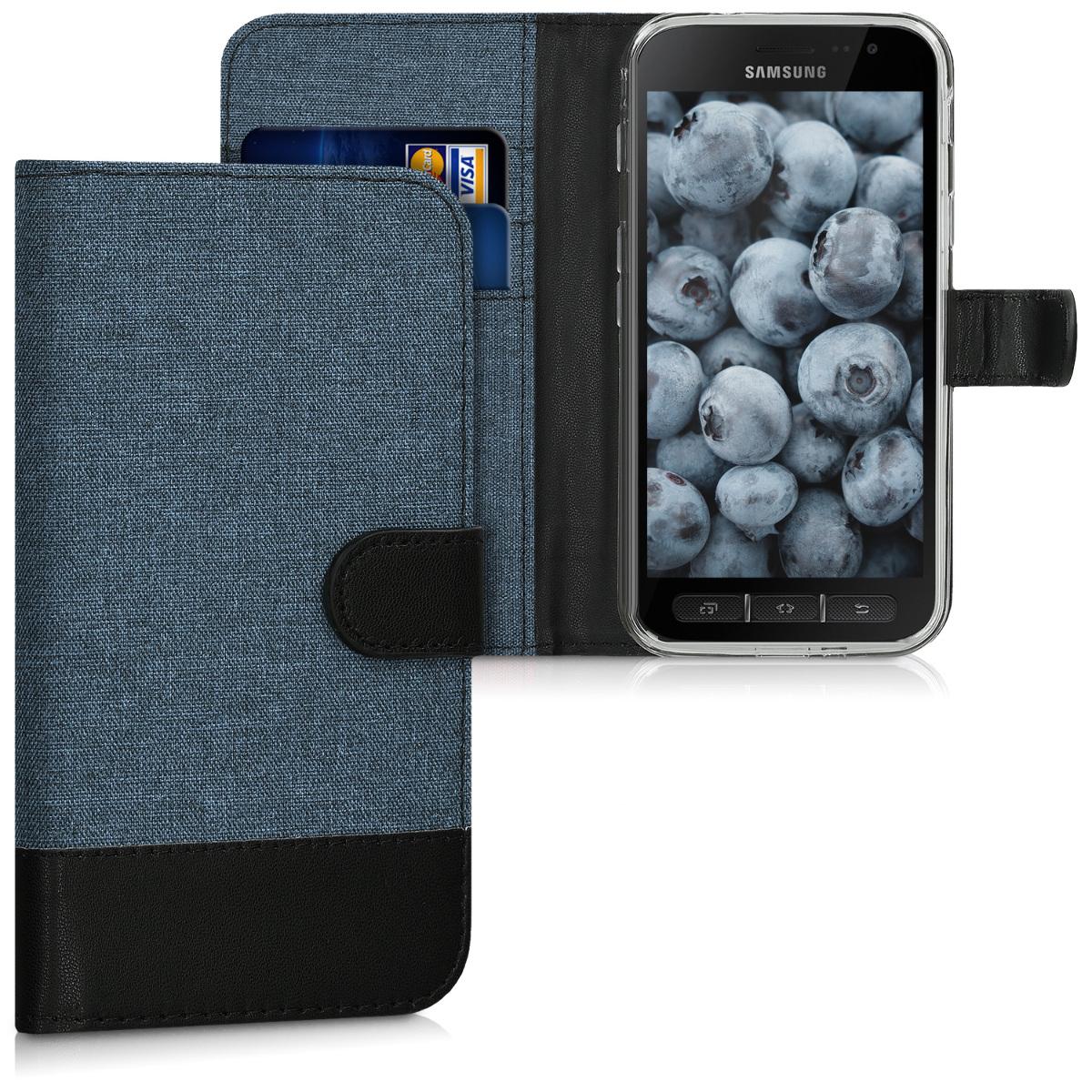 KW Θήκη Πορτοφόλι Samsung Galaxy Xcover 4 - Dark Blue / Black (41255.03)