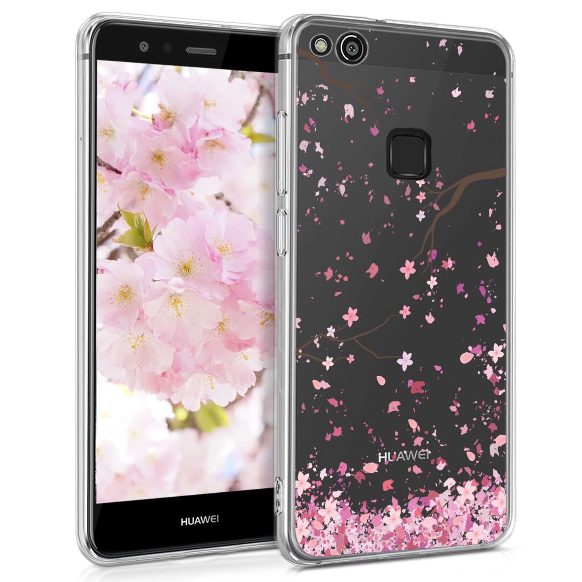 KW Θήκη Σιλικόνης Huawei P10 Lite - Light Pink / Dark Brown / Transparent (41375.57)