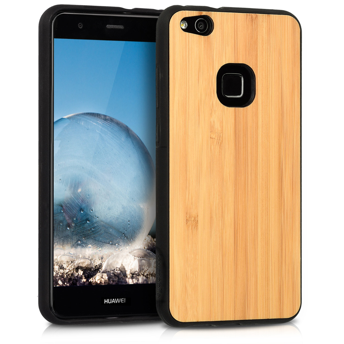 KW Ξύλινη Θήκη Huawei P10 Lite -  bamboo - Light Brown - (41376.24)