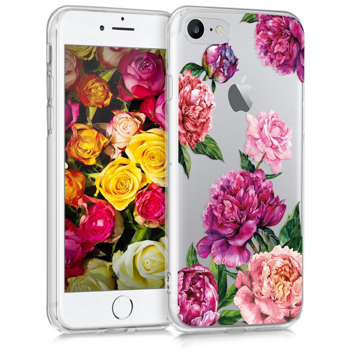 KW Θήκη Σιλικόνης iPhone 7 / 8 - Violet / Light Pink / Transparent (41448.28)