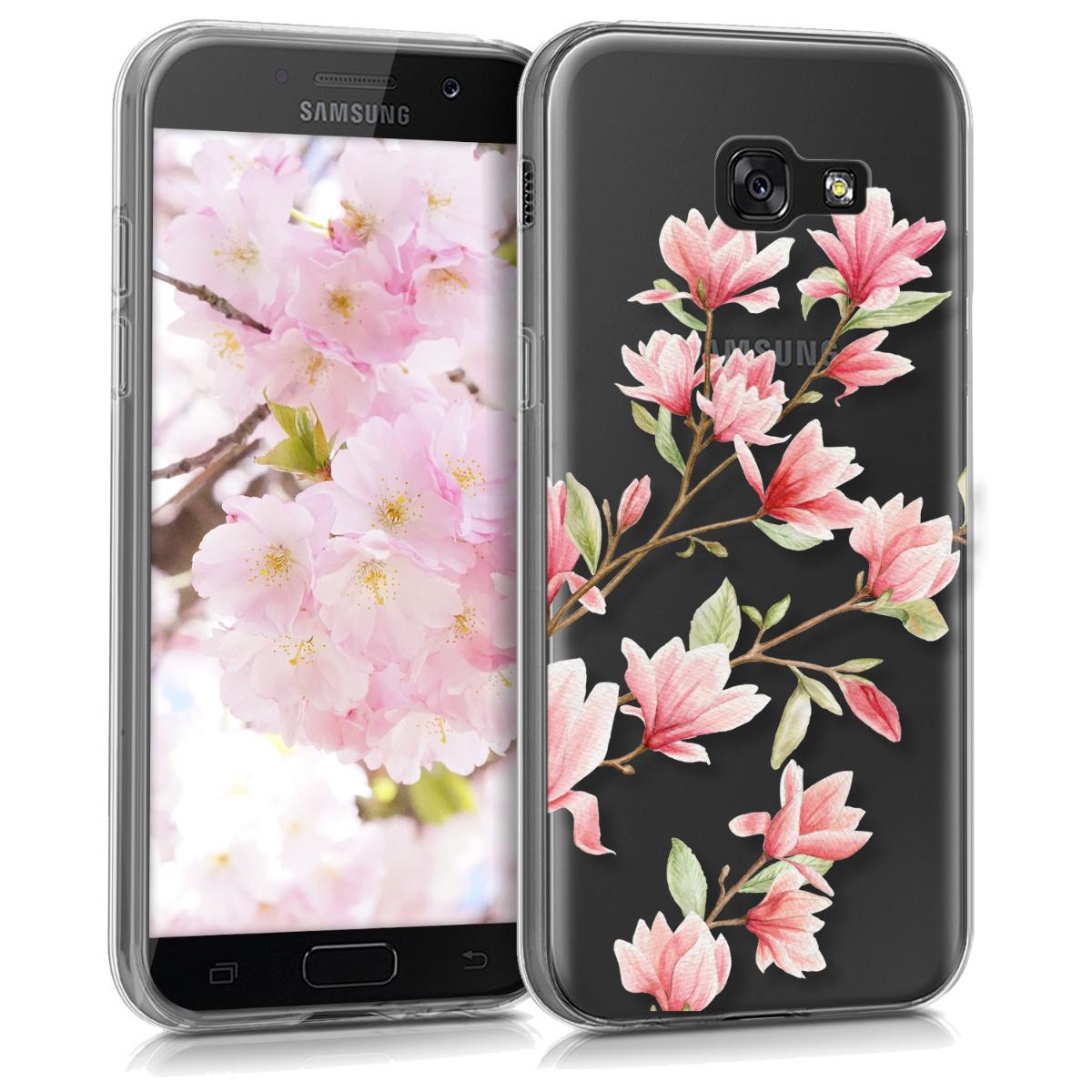 KW Θήκη Σιλικόνης Samsung Galaxy A5 (2017) - Διάφανη με σχέδιο λουλουδιών (41451.08)