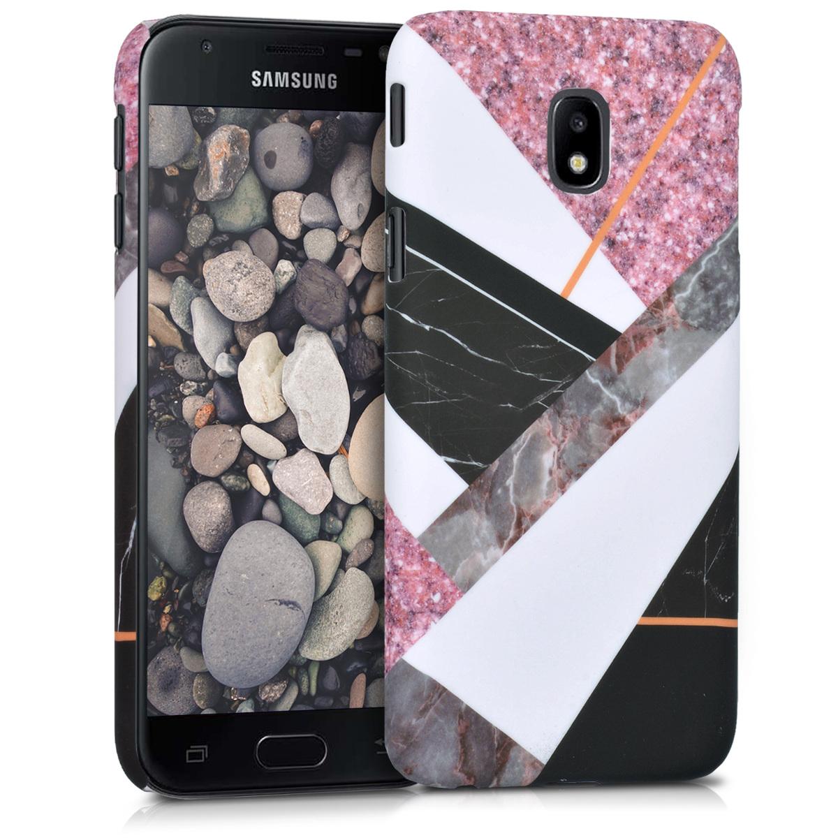 KW Slim Anti-Slip Cover - Σκληρή Θήκη Καουτσούκ Samsung Galaxy J3 (2017) - Πολύχρωμη- Γεωμετρικό σχέδιο (41467.01)
