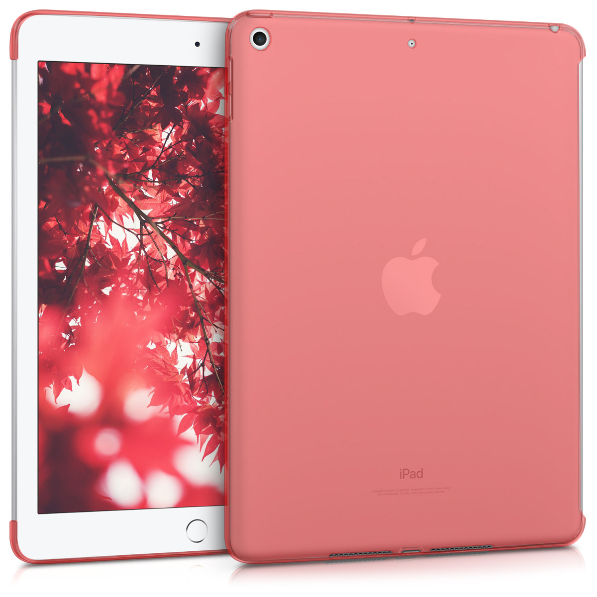 KW Θήκη Σιλικόνης Apple iPad 9.7 (2017 / 2018) - Red / Transparent (41737.09)