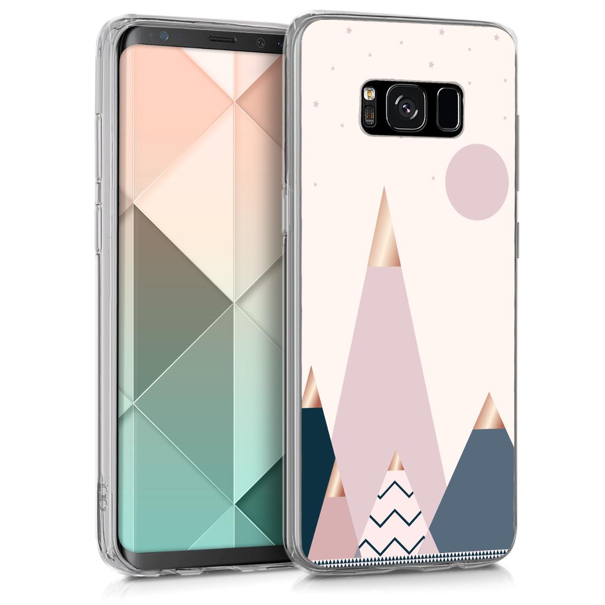 KW Θήκη Σιλικόνης Samsung Galaxy S8 - Rose Gold / Blue / Light Pink (41784.49)