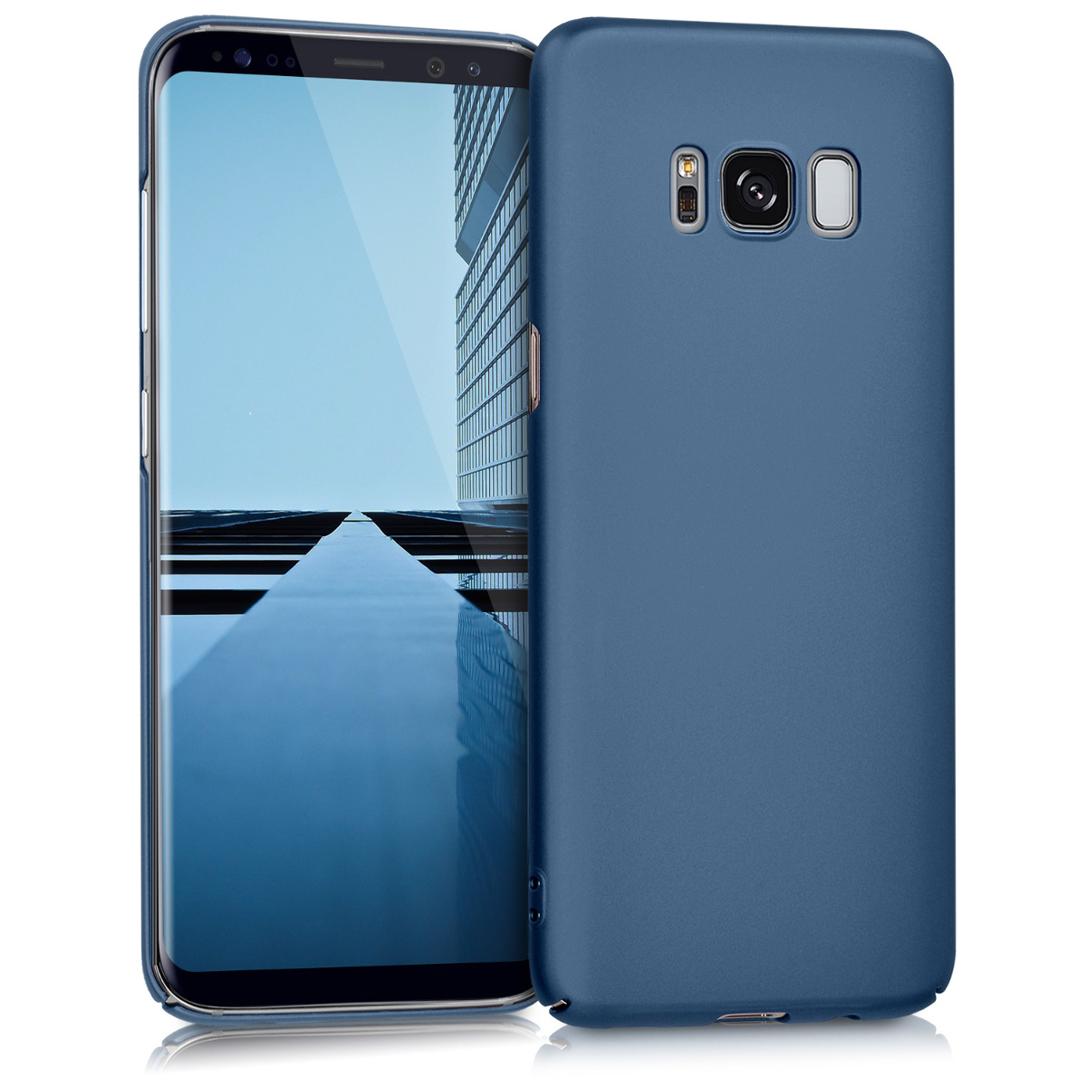 KW Slim Anti-Slip Cover - Σκληρή Θήκη Καουτσούκ Samsung Galaxy S8 - Μπλε μεταλλικό (41800.64)