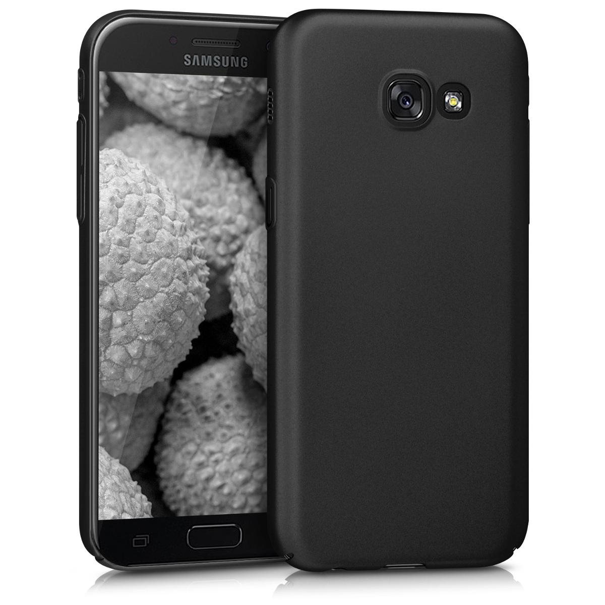 KW Slim Anti-Slip Cover - Σκληρή Θήκη Καουτσούκ Samsung Galaxy A5 (2017) - Μαύρο μεταλλικό (41803.68)