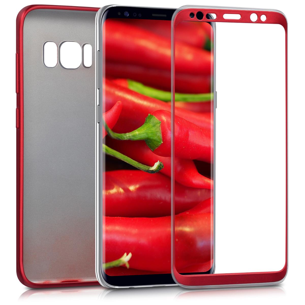 KW Θήκη Σιλικόνης Full Body Samsung Galaxy S8 - Κόκκινο μεταλλικό (41805.36)