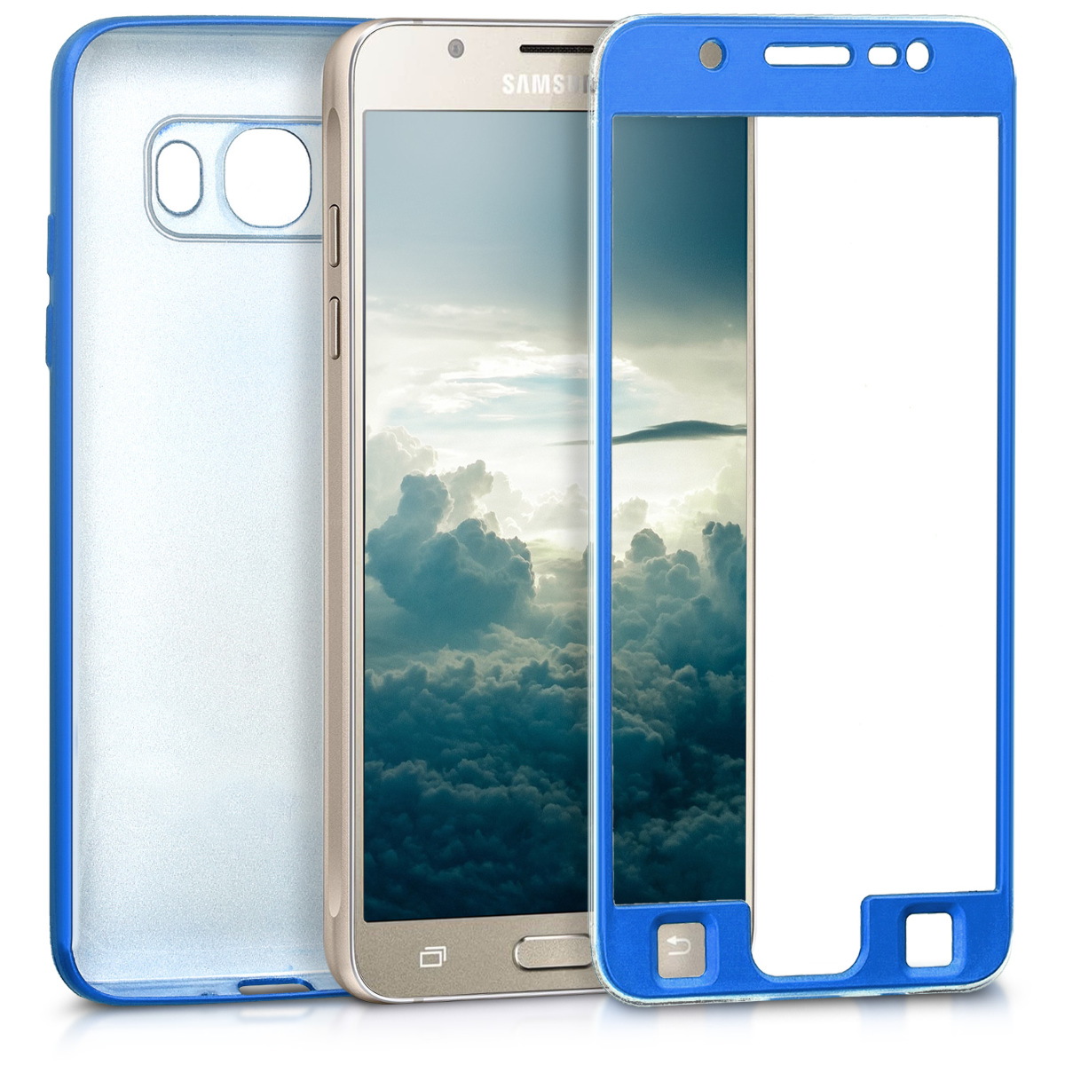 KW Θήκη Σιλικόνης Full Body Samsung Galaxy J5 (2016) DUOS - Metallic Blue (41806.64)