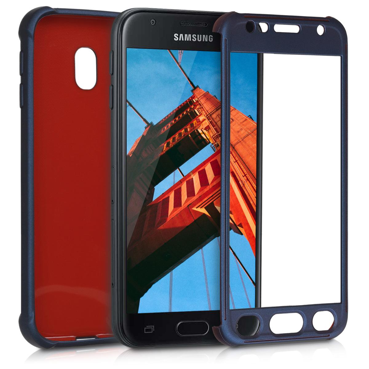 KW Θήκη Σιλικόνης Full Body Samsung Galaxy J3 2017 - Σκούρο μπλε μεταλλικό  (41807.99)
