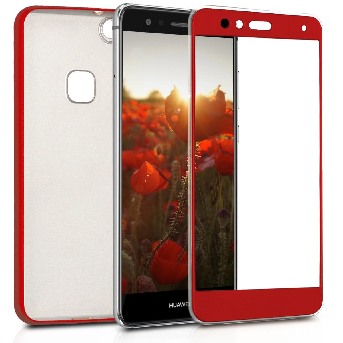 KW Θήκη Σιλικόνης Full Body Huawei P10 Lite - Κόκκινο μεταλλικό (41904.09)
