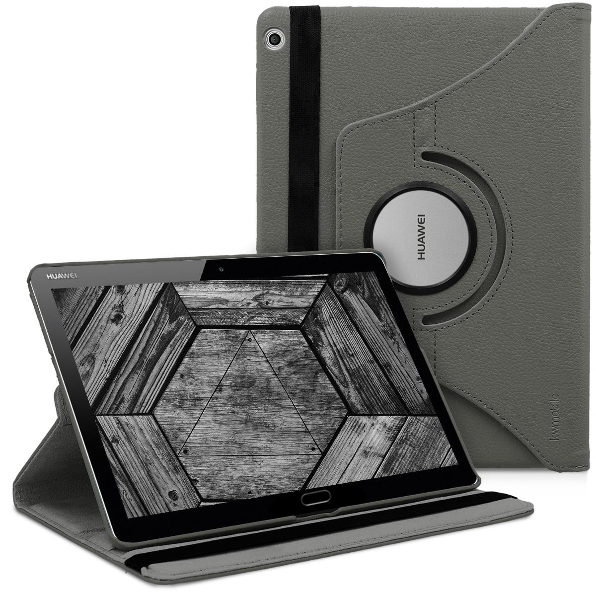 KW Θήκη 360°  Huawei MediaPad M3 Lite 10 -Συνθετικό Δέρμα - Grey (41998.22)