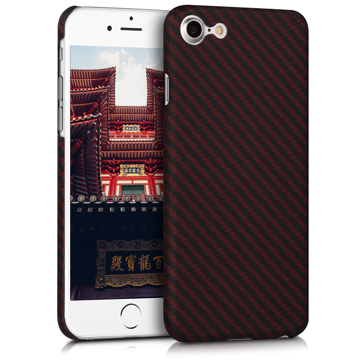 Kalibri Aramid Fiber Body - Σκληρή Θήκη iPhone 7 / 8 - Red / Black (42082.09)