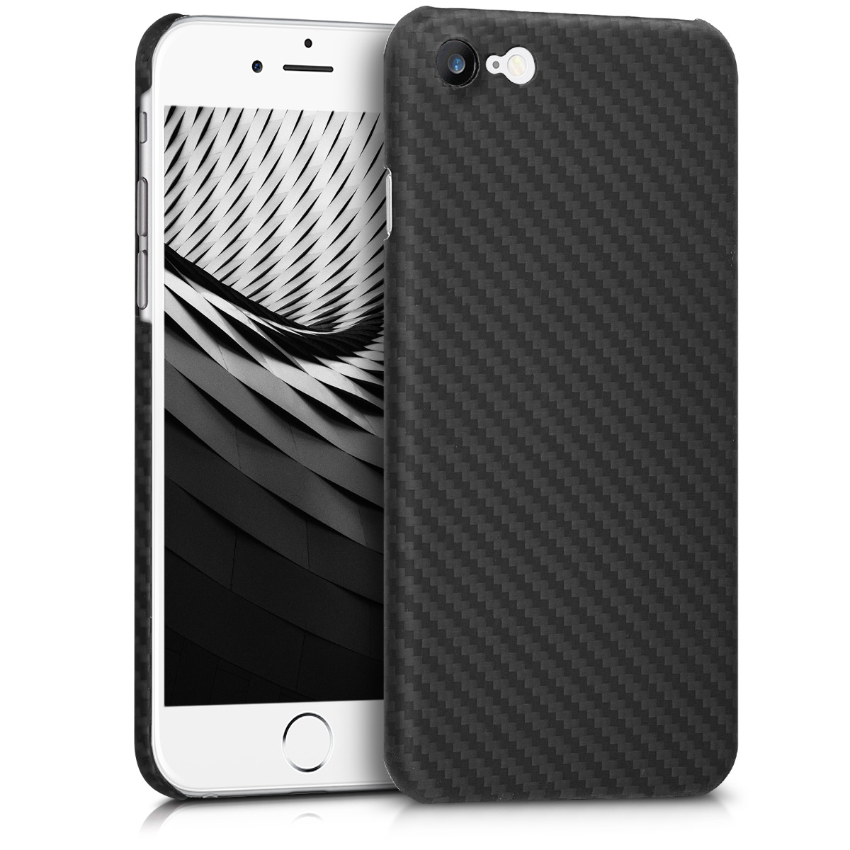 Kalibri Aramid Fiber Body - Σκληρή Θήκη iPhone 8 / 7 - Black Matte (42082.47)