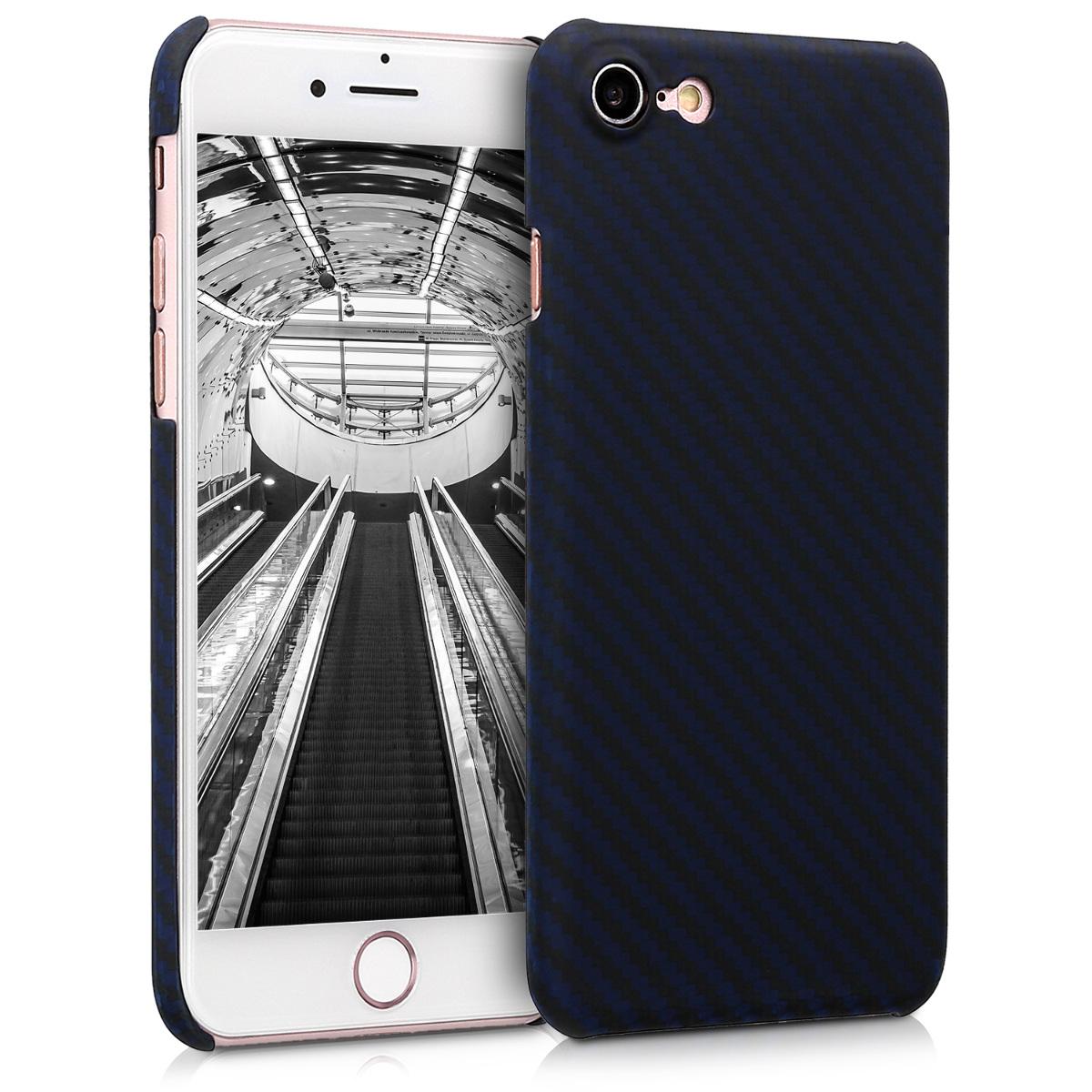 Kalibri Aramid Fiber Body - Σκληρή Θήκη iPhone 8 / 7 - Dark Blue Matte (42082.53)