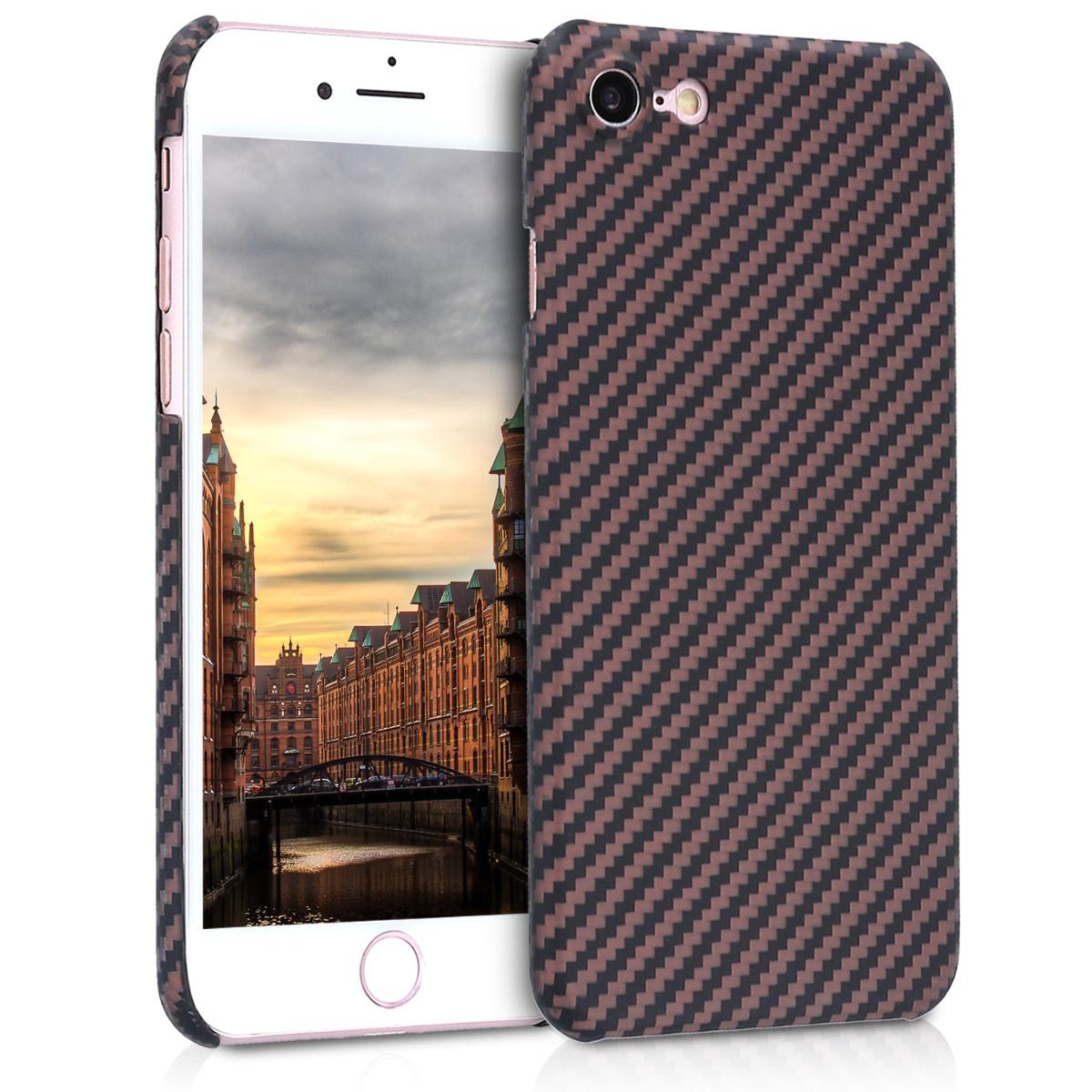 Kalibri Aramid Fiber Body - Σκληρή Θήκη iPhone 8 / 7 - Beige / Black Matte (42082.96)