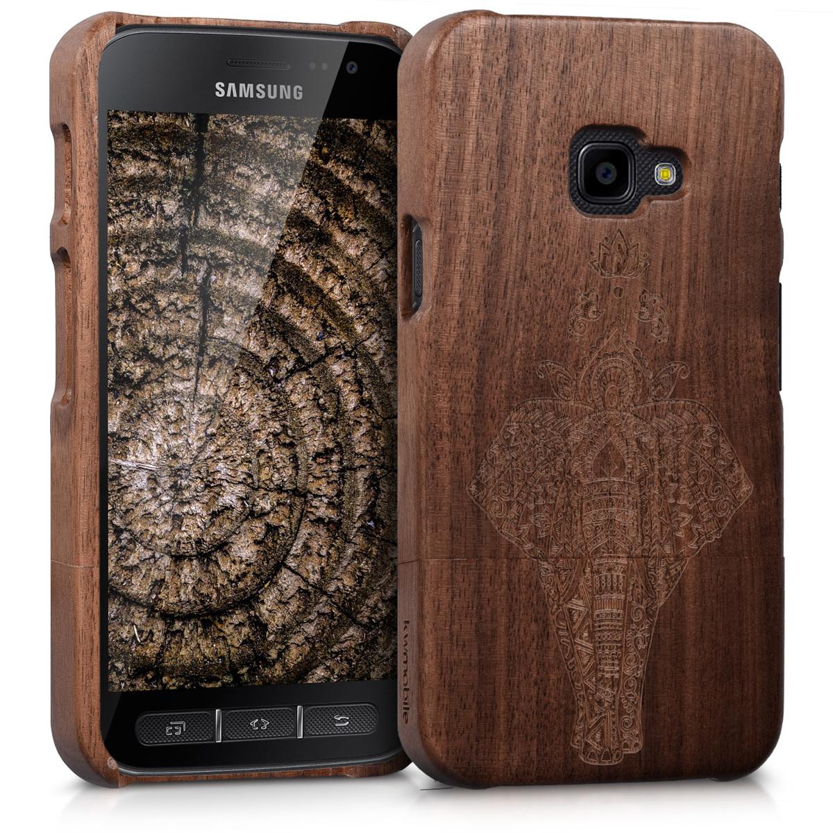 KW Σκληρή Ξύλινη θήκη Samsung Galaxy Xcover 4 - Brown (42147.01)