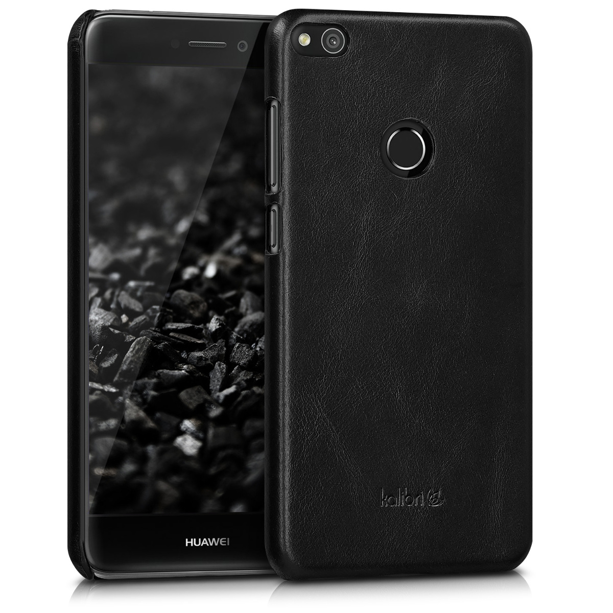 Kalibri Σκληρή Δερμάτινη Θήκη Huawei P8 / P9 Lite 2017 - Black (42246.01)