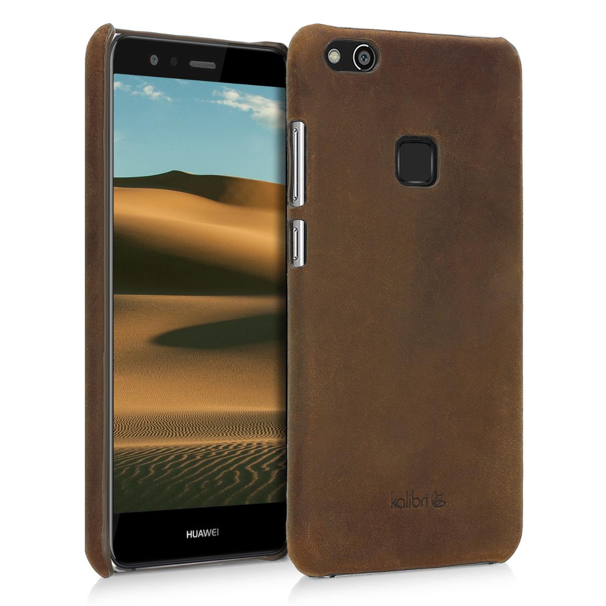 Kalibri Σκληρή Δερμάτινη Θήκη Huawei P10 Lite - Καφέ (42333.05)
