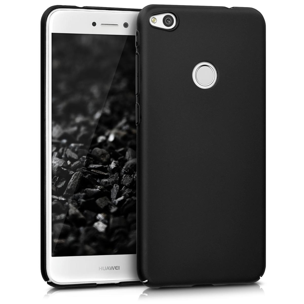 KW Slim Anti-Slip Cover - Σκληρή Θήκη Καουτσούκ Huawei P8 / P9 Lite (2017) - Μαύρο μεταλλικό (42369.68)