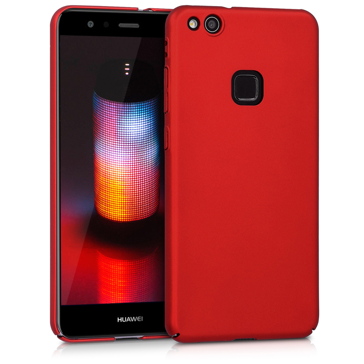 KW Slim Anti-Slip Cover - Σκληρή Θήκη Καουτσούκ Huawei P10 Lite - Κόκκινο μεταλλικό (42370.36)