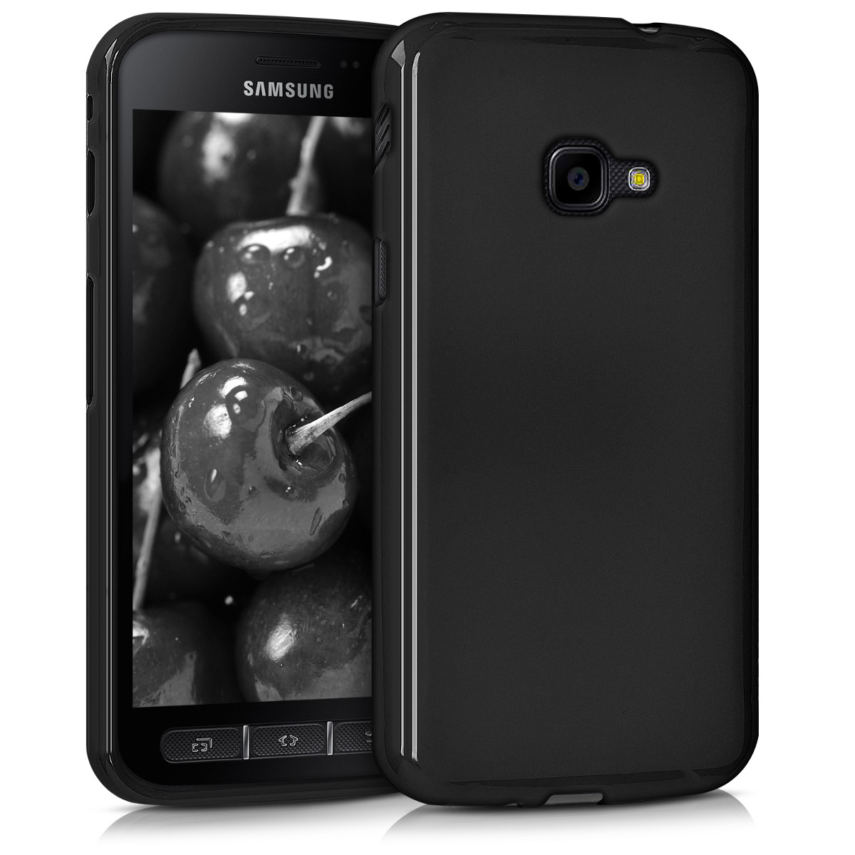 KW Θήκη Σιλικόνης Samsung Galaxy Xcover 4 - Soft Flexible Shock Absorbent Protective Phone Cover - Black Matte (42413.47)