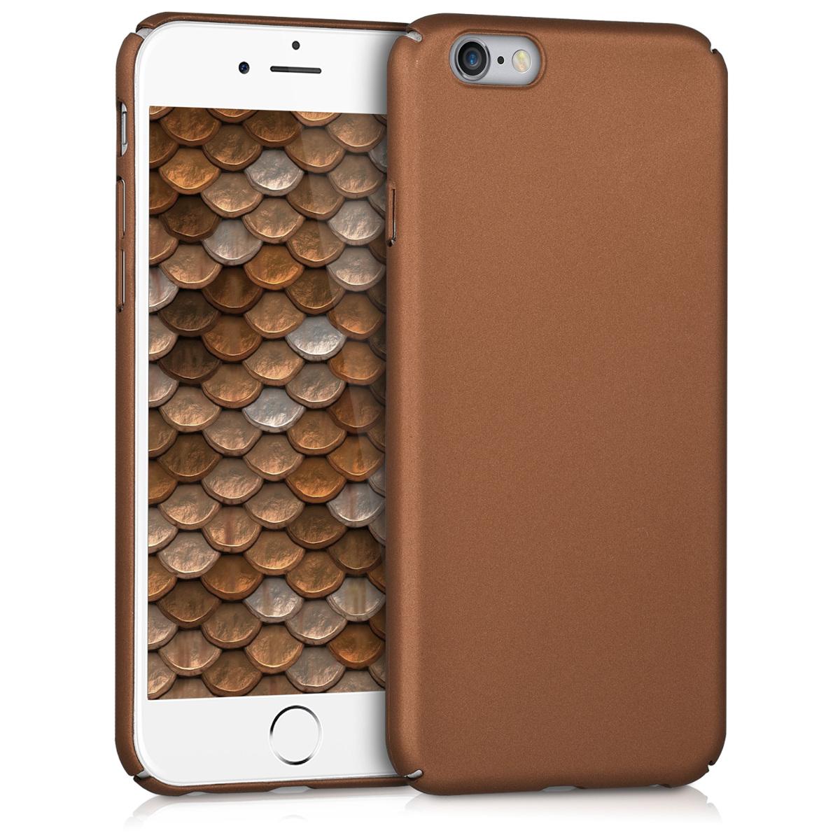 KW Slim Anti-Slip Cover - Σκληρή Θήκη Καουτσούκ iPhone 6 / 6S - Χάλκινο/ Μεταλλικό (42427.27)