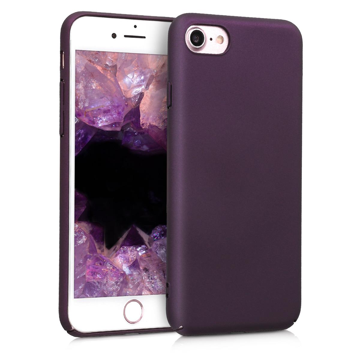 KW Slim Anti-Slip Cover - Σκληρή Θήκη Καουτσούκ iPhone 8 / 7 - Metallic Berry (42428.115)