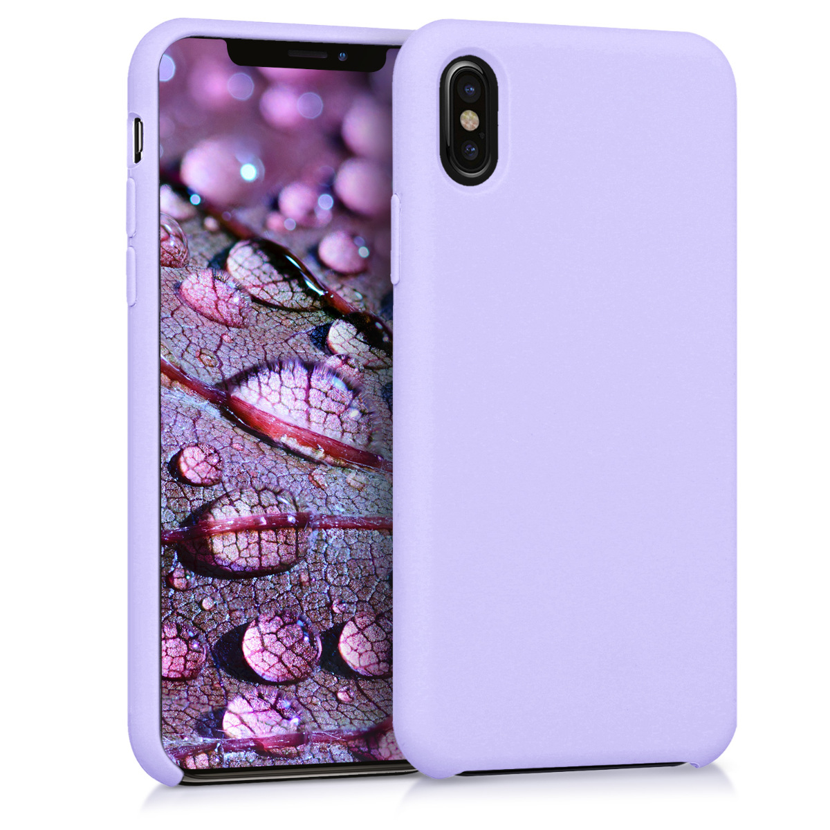 KW Θήκη Σιλικόνης Apple iPhone X - Soft Flexible Rubber Protective Cover - Lavender (42495.108)