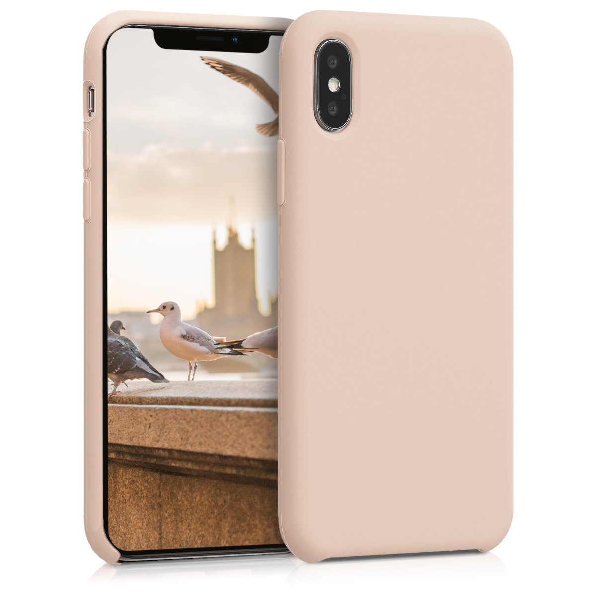 KW Θήκη Σιλικόνης Apple iPhone X - Soft Flexible Rubber - Mother Of Pearl (42495.154)