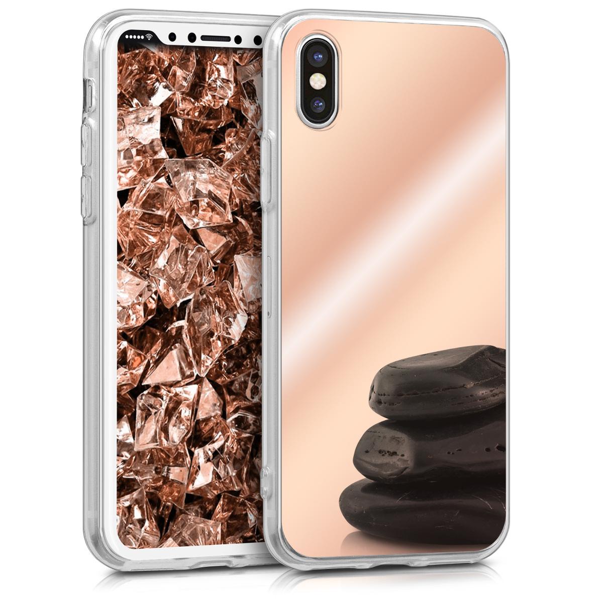 KW Θήκη Σιλικόνης (TPU) με Καθρέφτη iPhone X - Rose Gold Reflective (42510.41)