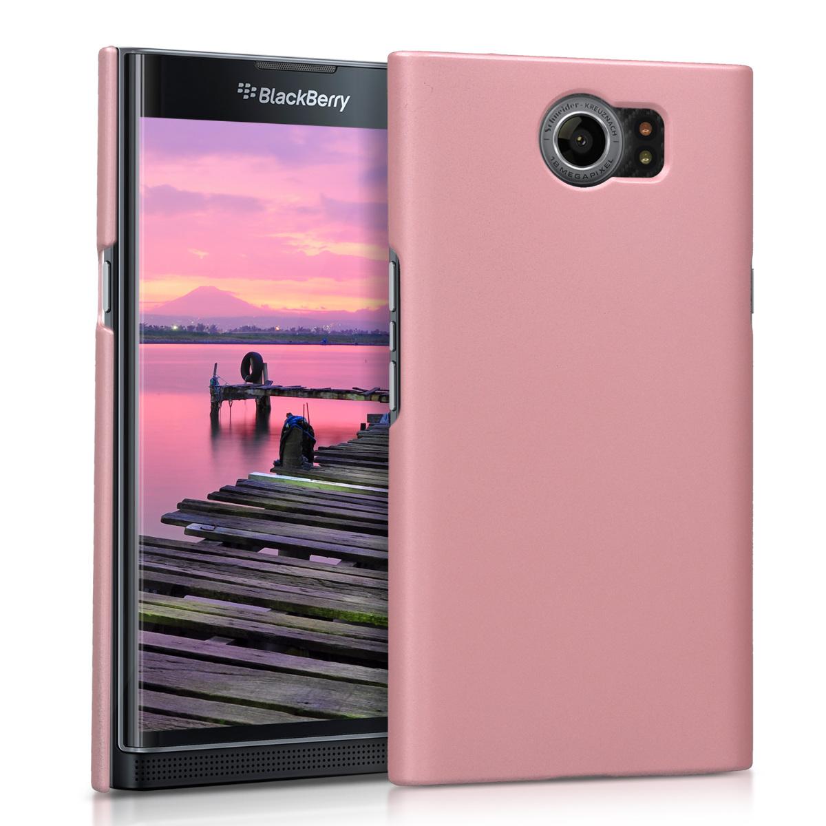 KW Slim Anti-Slip Cover - Σκληρή Θήκη Καουτσούκ Blackberry Priv - Ροζ (42624.89)