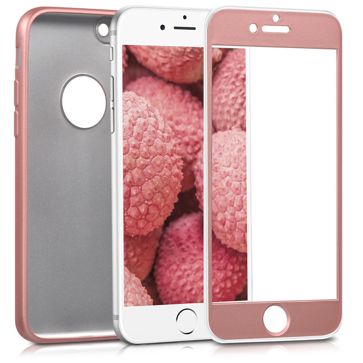 KW Θήκη Σιλικόνης Full Body iPhone 7 / 8 -  Metallic Rose Gold (42646.31)