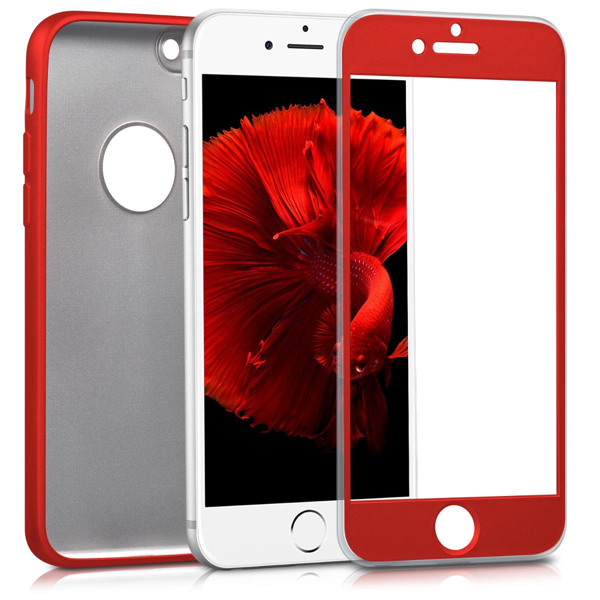 KW Θήκη Σιλικόνης Full Body Apple iPhone 7 - Metallic Dark Red (42646.36)