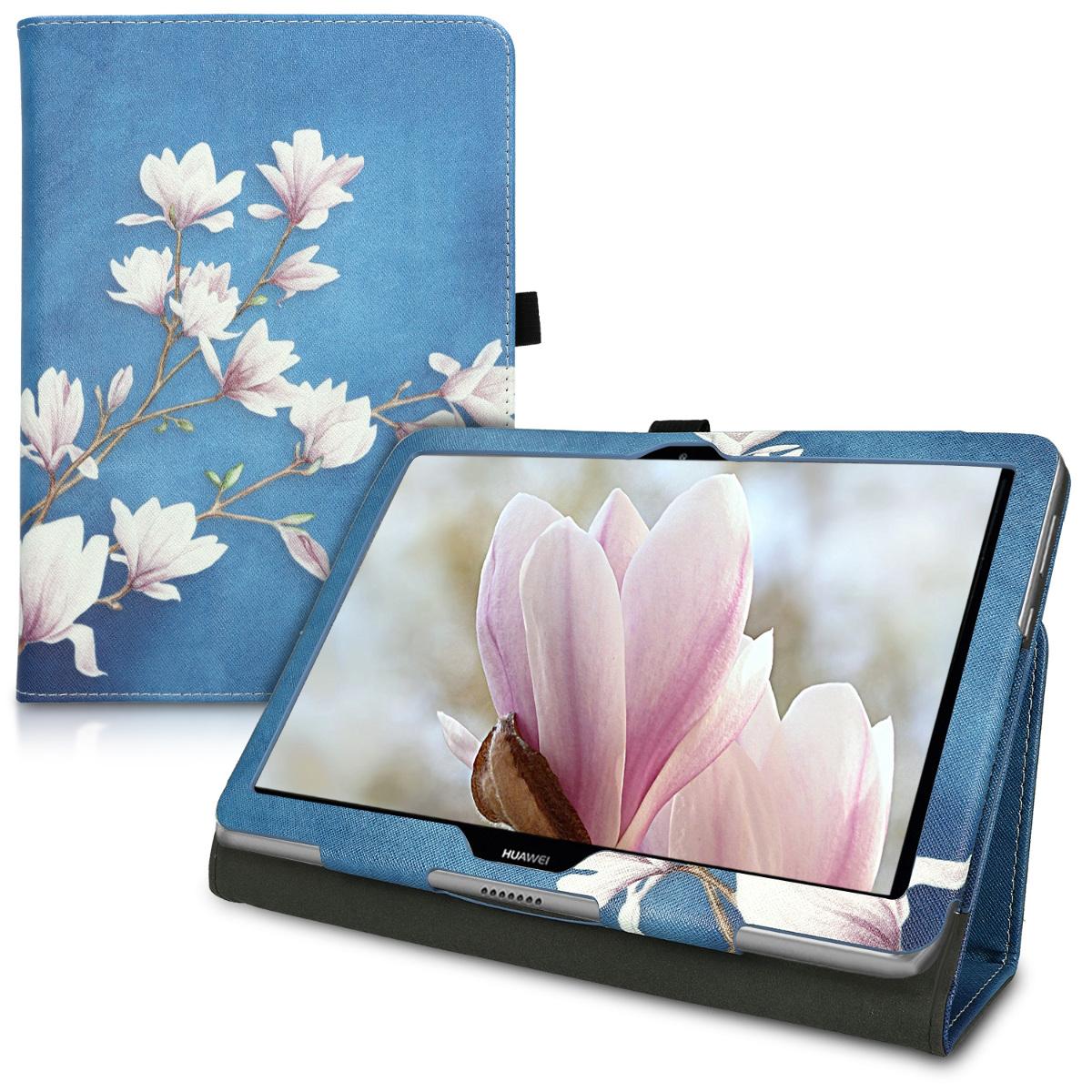 KW Θήκη Slim Huawei MediaPad T3 10'' - Σχέδιο λουλούδια (42651.07)