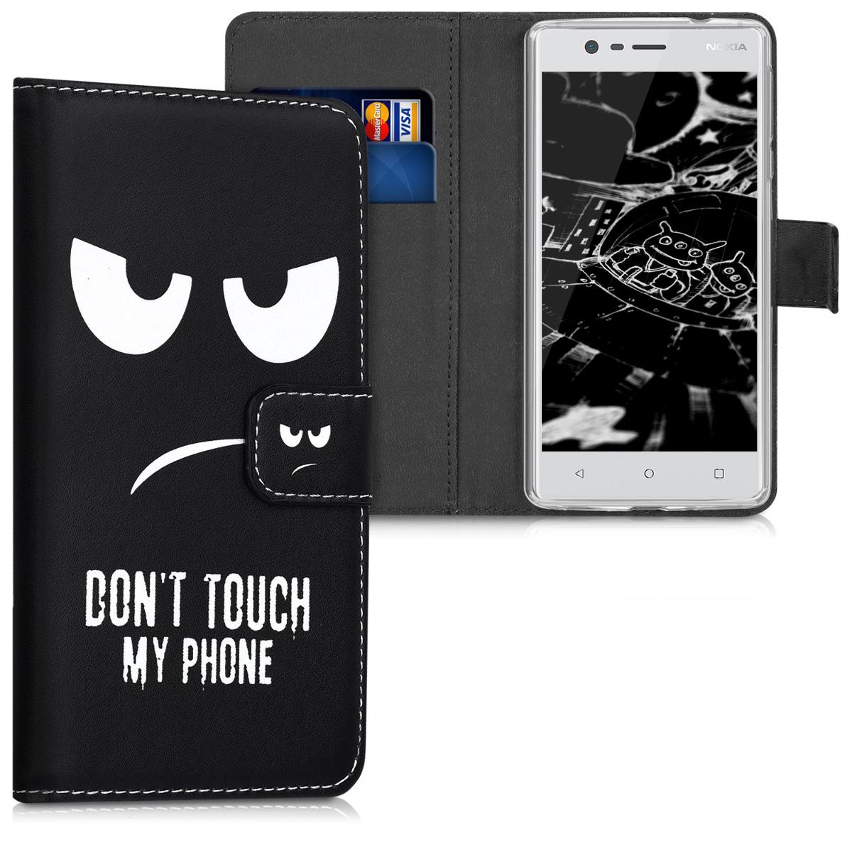 KW Θήκη - Πορτοφόλι Nokia 3 -White / Black (42663.01)