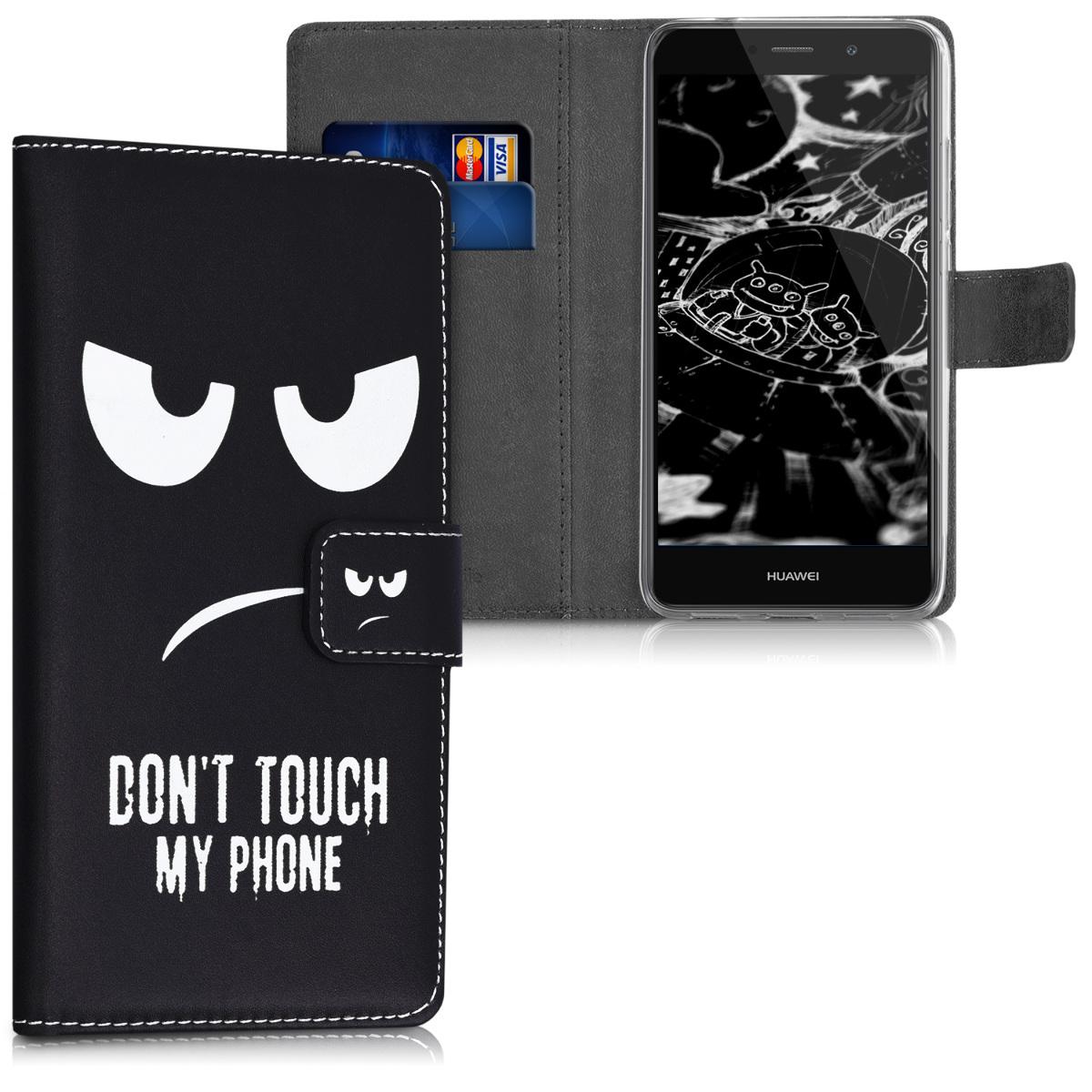 KW Θήκη - Πορτοφόλι Huawei Y7 / Y7 Prime 2017 - Don't Touch My Phone (42688.01)