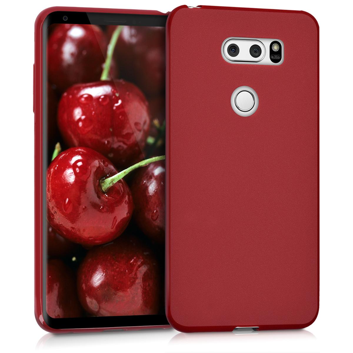 KW Θήκη Σιλικόνης LG V30 - Red Matte (42749.51)