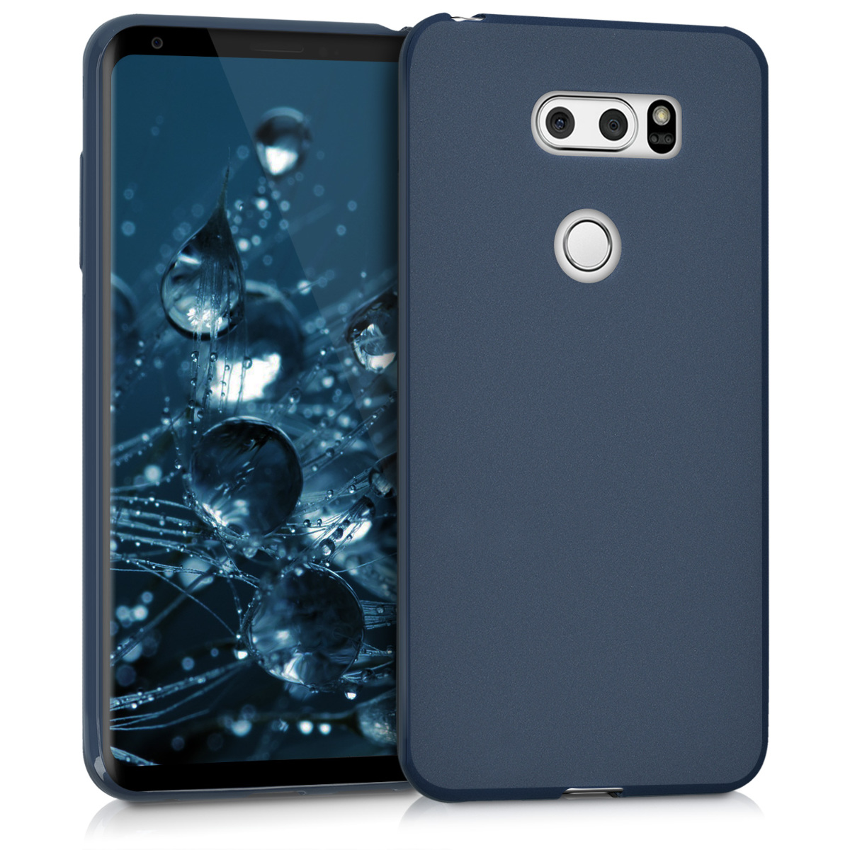 KW Θήκη Σιλικόνης LG V30 - Dark Blue Matte (42749.53)