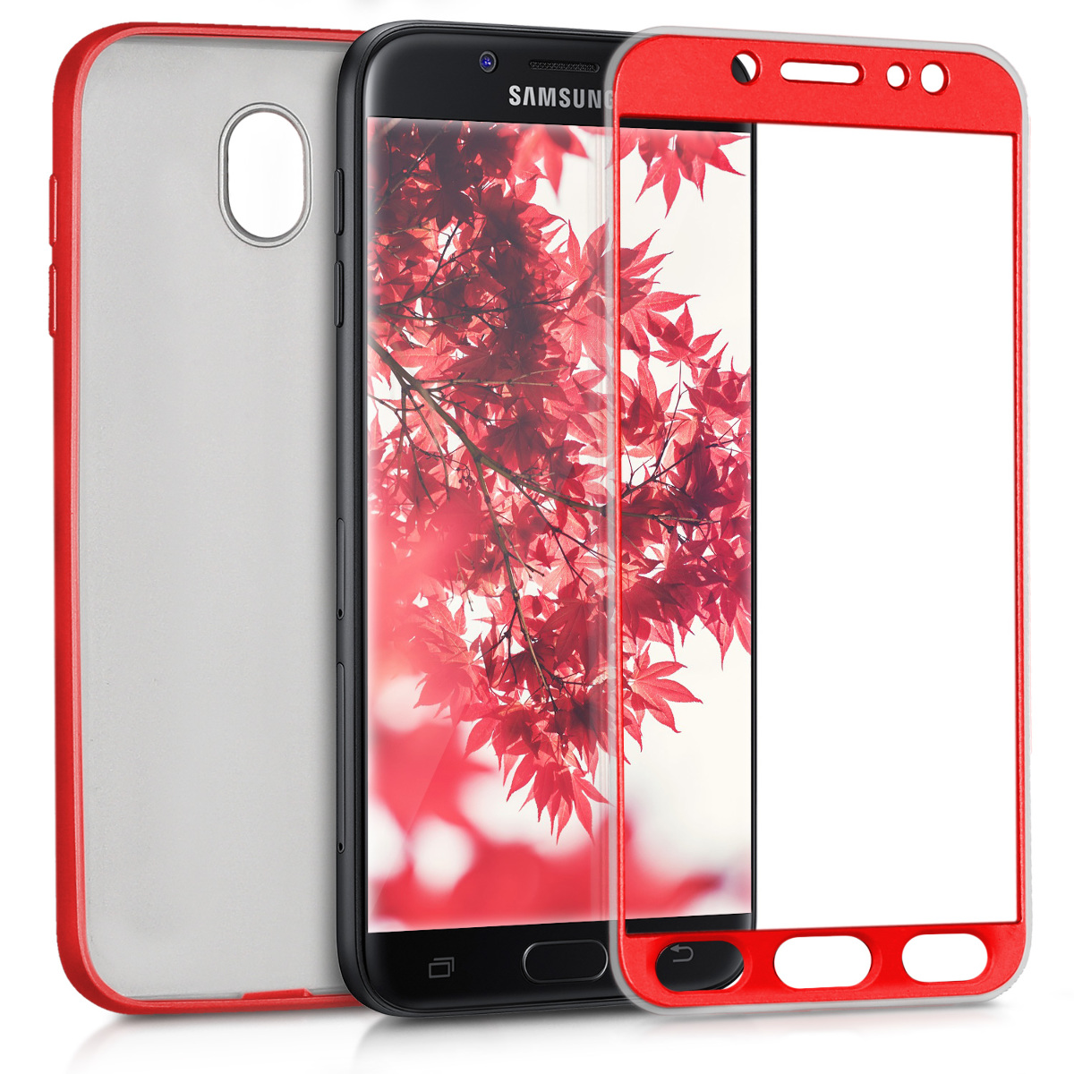 KW Θήκη Σιλικόνης Full Body Samsung Galaxy J5 2017 - Metallic Dark Red (42757.36)