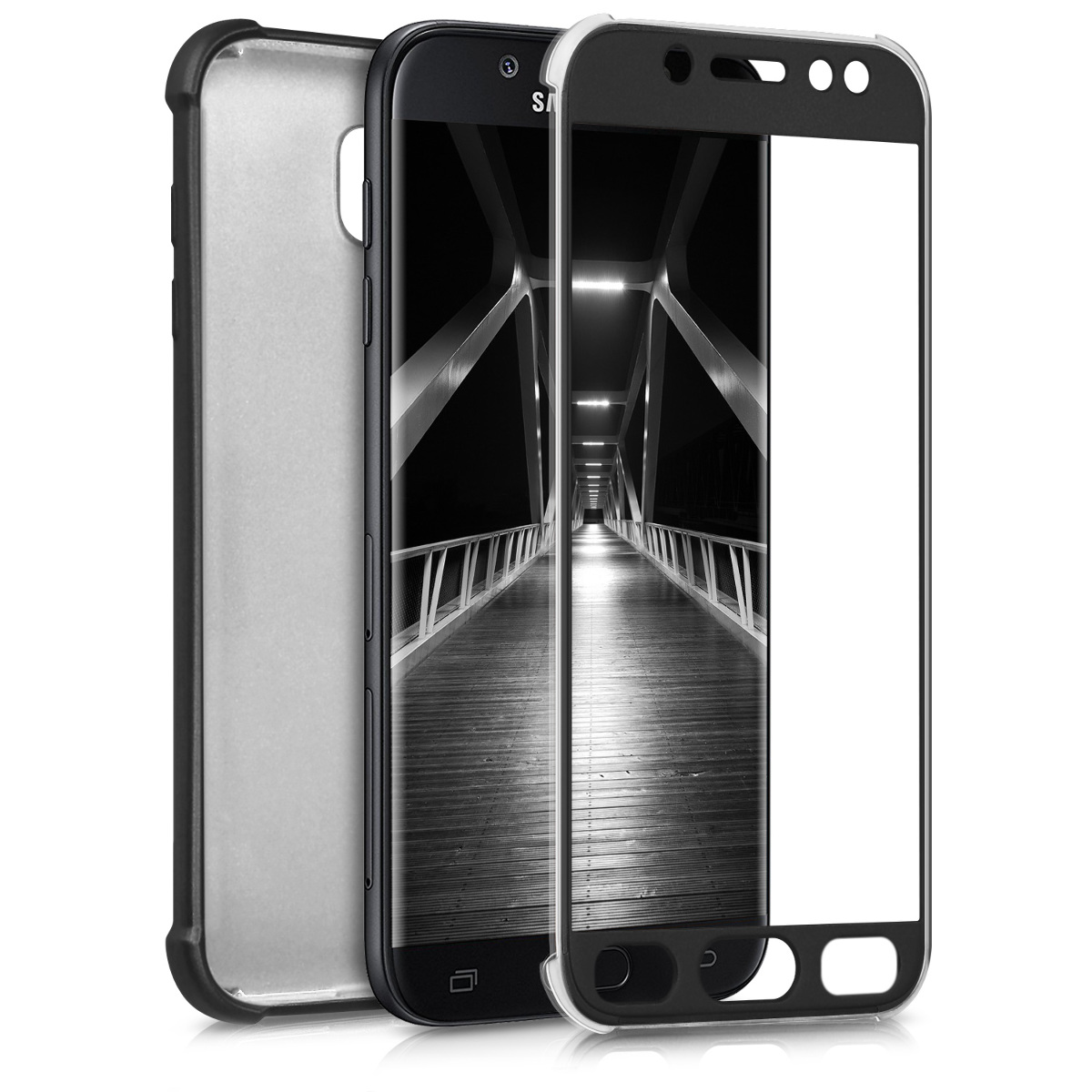 KW Θήκη Σιλικόνης Full Body Samsung Galaxy J5 (2017) DUOS - Soft TPU Silicone - Metallic Black (42757.68)