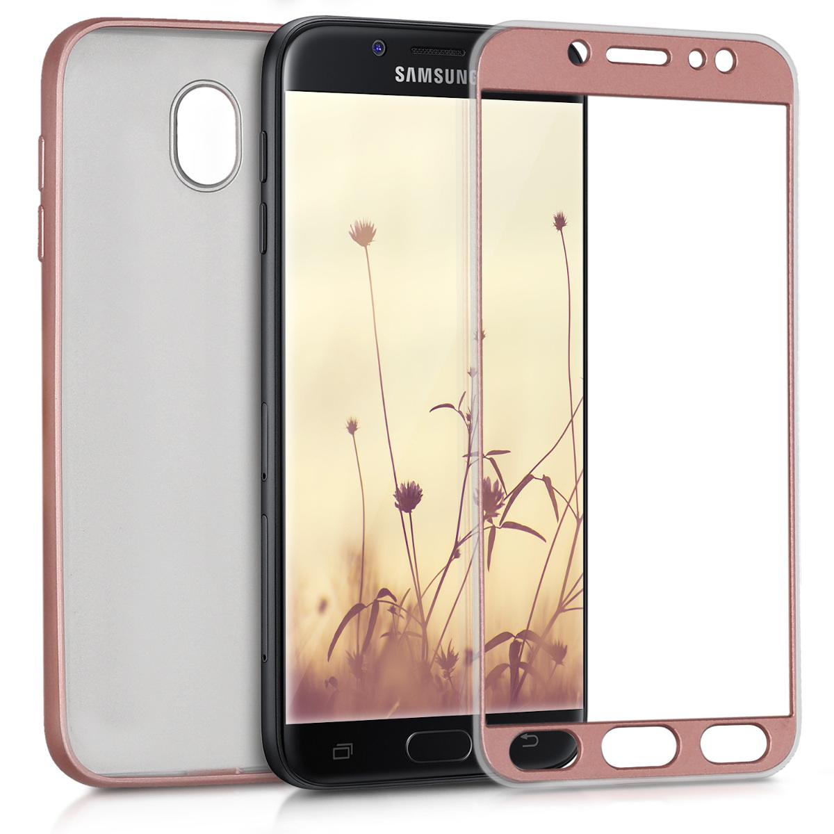 KW Θήκη Σιλικόνης Full Body Samsung Galaxy J7 (2017) DUOS - Metallic Rose Gold (42758.31)