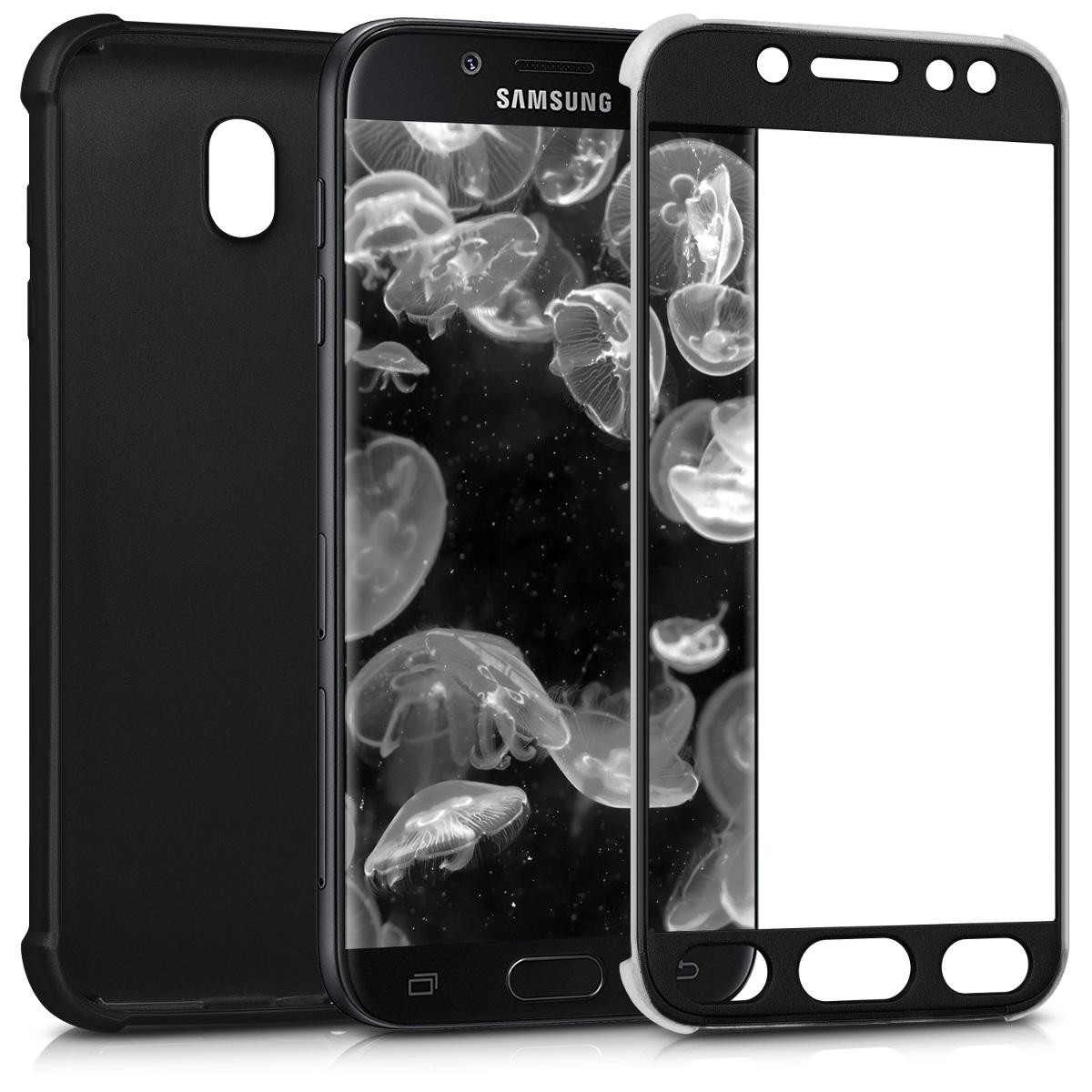 KW Θήκη Σιλικόνης Full Body Samsung Galaxy J7 (2017) DUOS - Metallic Black (42758.68)